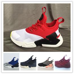 online store ba2bd ea8c7 chaussures pour grils Promotion Nouveaux Enfants Air Huarache Sneakers  Chaussures Pour Garçons Grils Authentique Tous Blancs