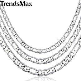 5b8fb2e424ef toda la ventaTrendsmax collar de acero inoxidable para hombres mujeres Figaro  cadena de enlace 6 7   9MM 45 cm 55 cm 60 cm KN218-KN220