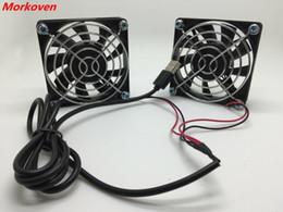 Для ASUS РТ-AC68U за маршрутизатор EX6200 5В вентилятор немой охлаждения в Netgear R7000 EA4500 беспроводной R6300 R6200 12см 7см USB кулер вентилятор 12025 от Поставщики охладители intel cpu
