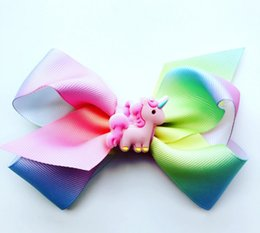 gifts for teens girls Promo Codes - JoJo Siwa Girls Headbow with Unicorn Deco Teens Girls hairbow colorfull JoJo Hearband gifts for kids