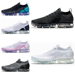 Wholesale cheap women size 11 shoes - Cheap 2018 Vapormax 2.0 Mens Running Shoes Dusty Cactus White Black TRIPLE WHITE women Sneakers Athletic trainers Sport Shoe size 5.5-11