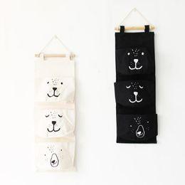 Wholesale Wardrobe Hangers - 3 Pockets Home Wall Wardrobe Hanging Organizer for Sundries Jewelry Storage Bags Hanger Underwear Cosmetics Organizer Container