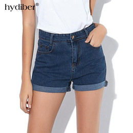Wholesale Jeans Woman Size 32 - 2017 Summer New Fashion women jeans High Waist Stretch Denim Shorts Slim Casual women Jeans Shorts Hot Plus Size 26-32