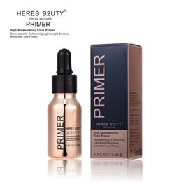 Wholesale line gel - HERES B2UTY Blurring illuminating Fluid Gel Primer even skintone blurs pores fine lines Long-lasting smoothed Brighten Highlight 15ML