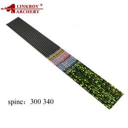 Eixos de seta de carbono on-line-Linkboy Arco E Flecha de Carbono Eixos 30 polegadas ID6.2mm Padrão de Esqueleto SP300 340 Arco Recurvo Composto Flechas de Caça
