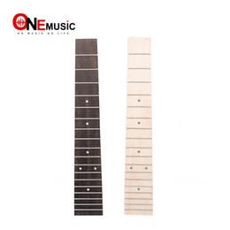 26 polegadas ukulele Desconto Maple Fretboard Rosewood Ukulele Fingerboard para 26 Polegada Tenor Ukulele com 3mm Ponto 18 Fret Fretboard UK Peças