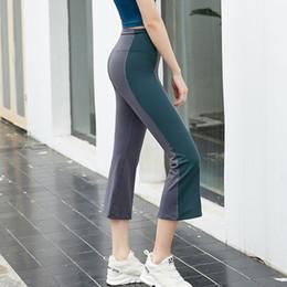 520deb3747e High Waist Yoga Pants Sport Yoga Gym Fitness Leggings Bell-bottomed Pants  Women Workout Leggings Push Up Running Tights