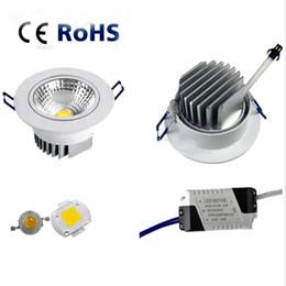 5W 7W 9W 12W regulable LED Downlight 110v 220v Spot LED DownLights Comercio al por mayor regulable cob LED Spot Empotrable abajo luces blanco desde fabricantes