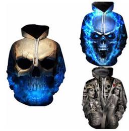 мальчики черепа толстовки Скидка Горячая 3D Creative Skull Dragon Ball Печатные мужские толстовки Панк-мальчик уличная одежда настольные мужские кофты свэг мужчины свитер