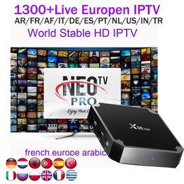 mx amlogique Promotion x96mini 1G avec NEOTV 1année Abonnement au compte IPTV arabe européen Euro Français Français Allemagne Chaînes en direct africaines africaines pour Android 7.1 box