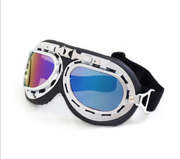 Wholesale red scooters - 2018 Cheap Motorcycle goggles Cruiser Scooter Biker Goggles For Halley Windproof Dustproof Outdoor Eyewear A variety of lens colors all day
