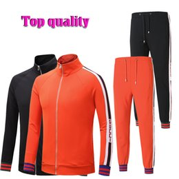 Wholesale Medusa Set - gc Tracksuit Jackets Set Fashion Running Tracksuits For Men Sports Suits Letter printing Slim Hoodies Clothing Track Suit Medusa Sportswear
