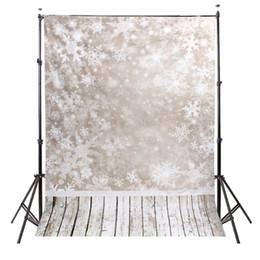 Fondo de tela de vinilo online-Fondo de fotografía de vinilo de 5x7 pies Paisaje de nieve Telón de fondo fotográfico de Navidad para Studio Photo Prop cloth 1.5x2.1m impermeable