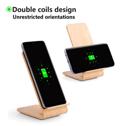 Wholesale Iphone For Sale Uk - Hot Sale Wooden Grain Qi Charger for iPhone X Fast Wireless A8 Charging for Samsung S8 USB interface