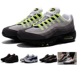 Wholesale Sports Neon Lights - 2018 New Cheap Mens sports 95 running shoes,Premium OG Neon Cool Grey sporting shoes sneakers size 40-46