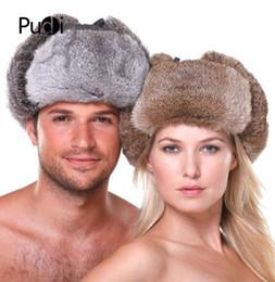 19d96d00 China HR007 New Men's Women's 100% Real Rabbit Fur Warm Hat Russian Bombers  Guard Cheek