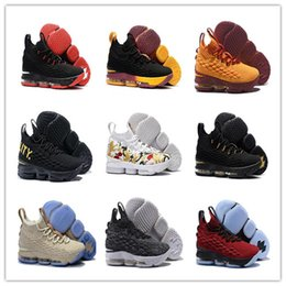 new style dbf91 ec8dd 2018 Lebron 15 Uomini Scarpe da basket Black Gold Sports lebron James  Scarpe da uomo Scarpe da corsa di alta qualità James 15 Sneakers lebron  basketball ...