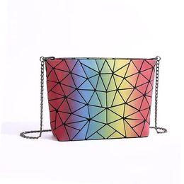 Wholesale Luminous Cross - Starry Sky Bag Women chain Lightnig Luminous Geometry Women Shoulder Bags Plain Folding Messenger Bag bolso
