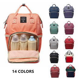 Wholesale Red Baby Diaper Bags - 14 Colors New Multifunctional Baby Diaper Backpack Mommy Changing Bag Mummy Backpack Nappy Mother Maternity Backpacks 3pcs H02p