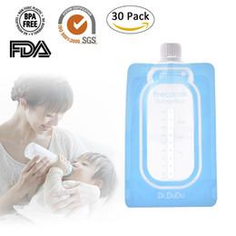 прямые насосы Скидка 30 шт. / компл. 200 мл прямой насос молокоотсос твист Cap грудное молоко сумка для хранения мешок свежий Saver (не включая адаптеры)