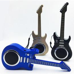 radio bluetooth laptop Rebajas Subwoofer guitarra altavoz bluetooth inalámbrico Reproducción de Mp3 Ranura de tarjeta TF USB Radio FM para teléfono móvil altavoz portátil amplificador de regalo