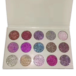 Wholesale Cosmetics Products Wholesale - New Glamierre Glitter Eyeshadow Palette 15 Colors Makeup Shimmer Glitter Eye Shadow Palette Beauty Cosmetic Products 3001066