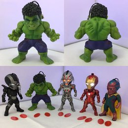 Wholesale Ironman Action Figures - 8-10cm IRONMAN Hulk Age of Ultron action figure Toy Collection Movie Moveable model Anime child cartoon birthday electronic pet
