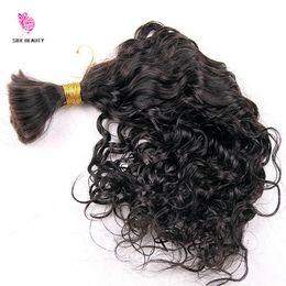 Wholesale Brazilian Curly Virgin Bulk Hair - Human Braiding Hair bulk Water Wave Bulk Virgin Brazilian Bulk Braiding Hair Extensions Loose Curly Hair Style Fast Shipping