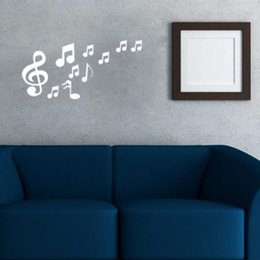 Wholesale Musical Wall Art Decor - Musical Notes Acrylic Mirrors Wall Home Decor Art Stickers Wall Sticker Modern Home Decoration DIY Art Decal