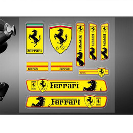 Motorkörperaufkleber online-Auto Aufkleber hochwertige Vinyl Aufkleber Racing Motor Sport Logo für Ferrari