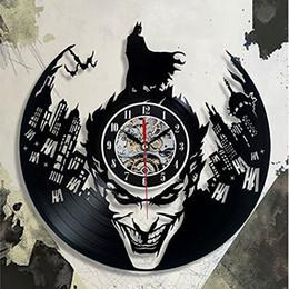 8afc117a5b7 Super Cool Hot Vinyl Record Concept Wall Clock Batman Theme CD Vinyl Clocks  Horloge Murale Decorative Modern Design