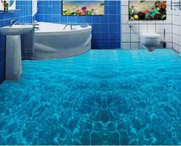 Wholesale Toilet Paper Print - pvc vinyl flooring bathroom Ocean toilet bathroom Painting PVC wallpaper