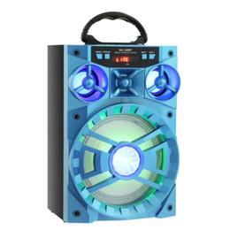 radios de control de volumen Rebajas Altavoz Bluetooth inalámbrico Redmaine Altavoz colorido Soporte FM Radio LED Control de volumen Shinning TF Tarjeta