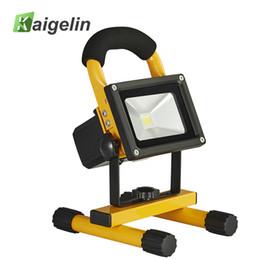 Перезаряжаемый светодиодный квадрат онлайн-10W Waterproof Rechargeable LED Flood Light Portable Spotlight Changing Floodlight Emergency Outdoor Square Camping Work Light