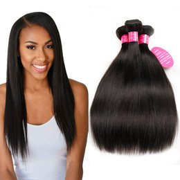 Wholesale Cheap Natural Hair Products - Indian Human Weave Hair Straight 4Bundles Double Weft Wow Queen Products Cheap Wholesale Price Indian Virgin Remy Human Hair Extensions