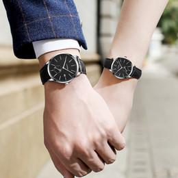 синои черные люди смотреть Скидка Minimalist Black fashion Watch SINOBI New Design  Wrist Watch For Men Women Simple Quartz Lovers