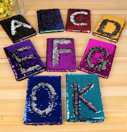 Canada Bloc-notes Sequins Single Letter Design Bloc-notes Bling pailleté pour fournitures scolaires officielles Offre