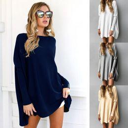 Wholesale Summer Women Jumpers - Fluff Tee Shirt Winter Autumn O-Neck Long Sleeve T-shirt Women Top Fluffy Solid T-shirts Slim Pullover Coat Jumper OOA3867