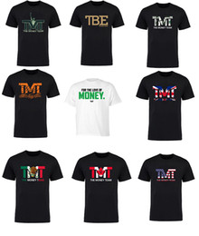 Wholesale Uk T Shirt Printing - The Money Team Floyd Mayweather USA UK CANADA Large Logo Script Shirt TMT logo T-shirt
