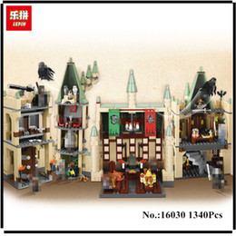 Wholesale building blocks castle - IN STOCK Lepin 16030 Movie Series The Hogwarts Castle Set 1340pcs Building Blocks Bricks Compatible 4842 Educational Toys Model