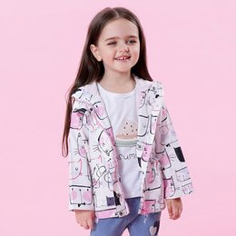 Wholesale Warm Jackets For Girls - Girls Coats and Jackets Kids 2018 Autumn Spring Warm Coats for Girls Clothes Cartoon Cat Outerwear Hooded kids Clothes