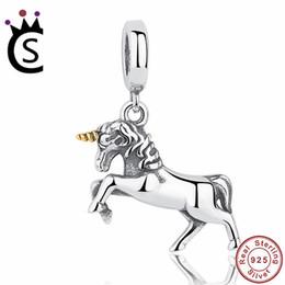 Charme spirituel en Ligne-CADEAU du Vainqueur Noble Élégant 100% 925 Bijoux en Argent Sterling Esprit Libre Cheval Cheval Charm Pendentif Fit Bracelet