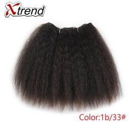 cabelo kanekalon tece Desconto Kinky Em Linha Reta Feixes de Cabelo Para As Mulheres Negras Africano 8 polegadas 14 polegadas Curto Cabelo Sintético Weave Kanekalon Cabelos Tramas 1-4 pcs
