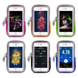 borsa del cellulare di neoprene Sconti ArmBand Custodia per cellulare con cinturino con cerniera Pouch / mobile Esercizio allenamento per Apple iPhone 6 7 8 iPod Touch