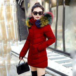 Wholesale womens cotton parka coat - 2017 New Long Parkas Female Women Winter Coat Thick Cotton Winter Jacket Womens Outerwear Parkas for Women Outwear
