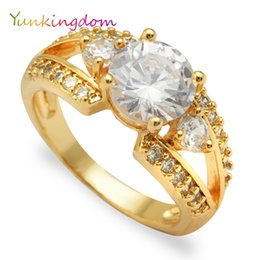 Wholesale Wholesale Costume Jewelry Sets - Engagement crystal rings jewelry female costume accessories zircon