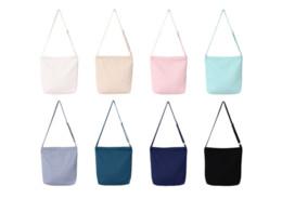 Borsa a tracolla in tela vendita diretta Y01 piccola borsa a tracolla da donna pura di colore puro artistico semplice e bianca bianca, nera. da