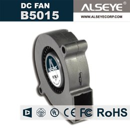 Wholesale Dc Cooling Blower Fan 12v - ALSEYE B5015 50mm Blower DC Cooling Fan Radiator 12v 0.12A 4000RPM 2 Lines Hydraulic Bearing Electronic and Exhaust Fans