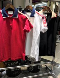 Wholesale G Tshirt - 2018 summer fashion designer luxury brand tag clothing men fabric letter polo t-shirt turn-down collar casual women tshirt g tee shirt