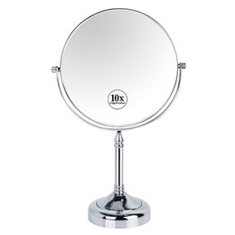 blank mirrors Promo Codes - GURUN Makeup Mirror-8 Inch 10X magnifying Cosmetic Mirror Double Sides makeup tabletop mirror Shave compact blank 2251